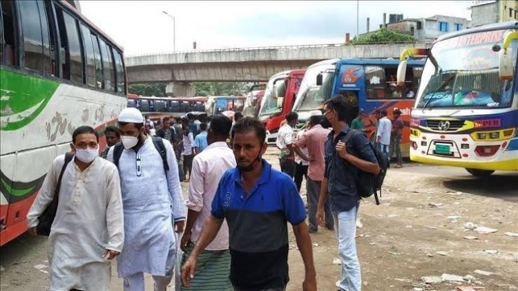 Police have stopped more than 100 Dhaka-bound buses in Sirajganj